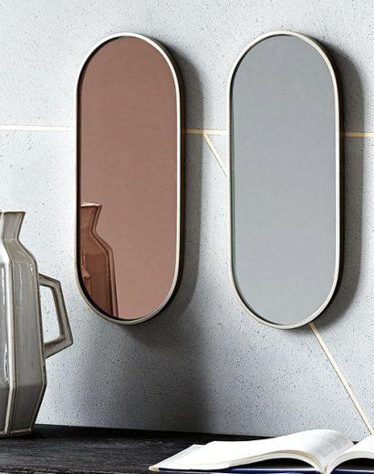 Фото зеркал в бронзовом и сером цвете