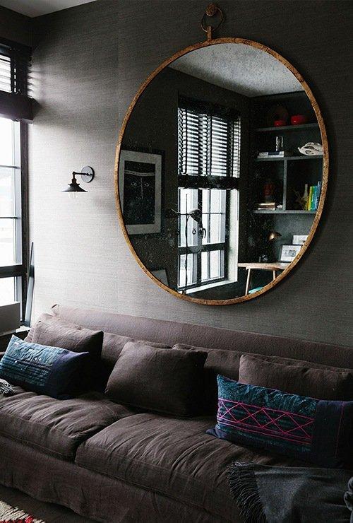Зеркало в металлической раме в стиле лофт картинка 27-8