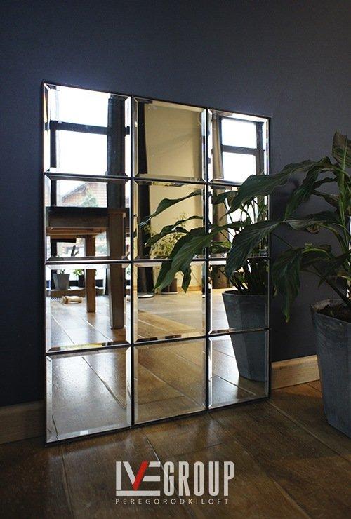 Зеркало с ячейками в стиле лофт от Ивегрупп