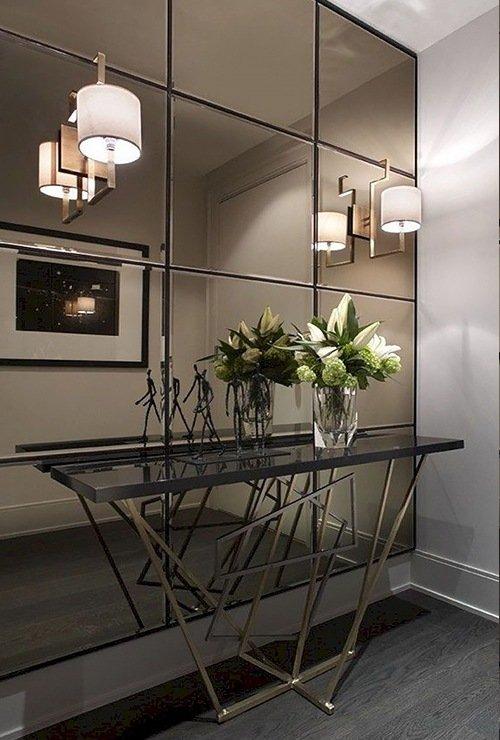 зеркало в стиле лофт в металлической раме