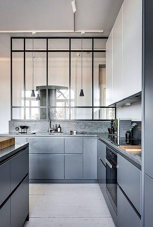 Зонирование перегородкой кухонной зоны