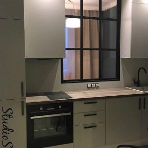 Межкомнатное окно в кухне фото