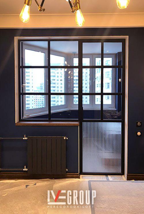 Перегородка лофт на балкон лоджию фото