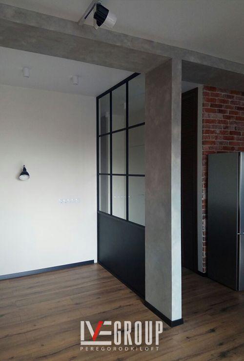 Стационарная перегородка лофт в гостиную фото 2