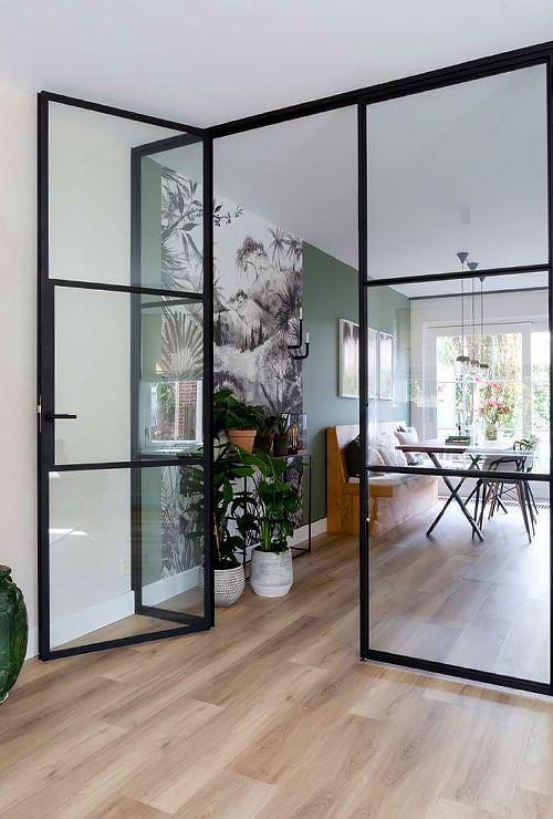 Стеклянная перегородка с дверью картинка 24-1