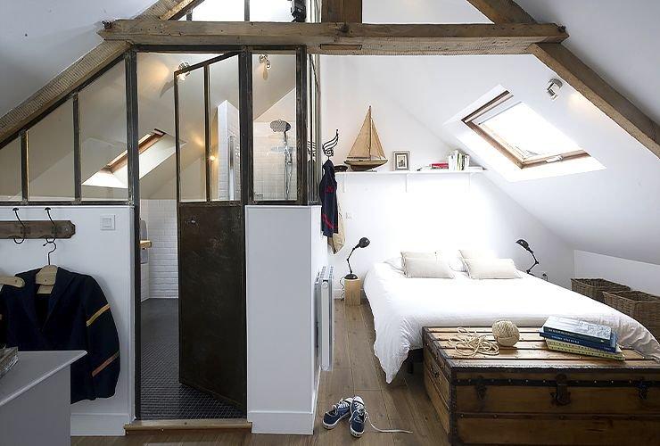 Ванная комната в спальне фото 5