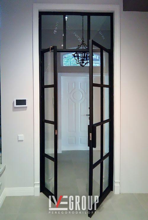 Распашные двери лофт на кухню картинка 19