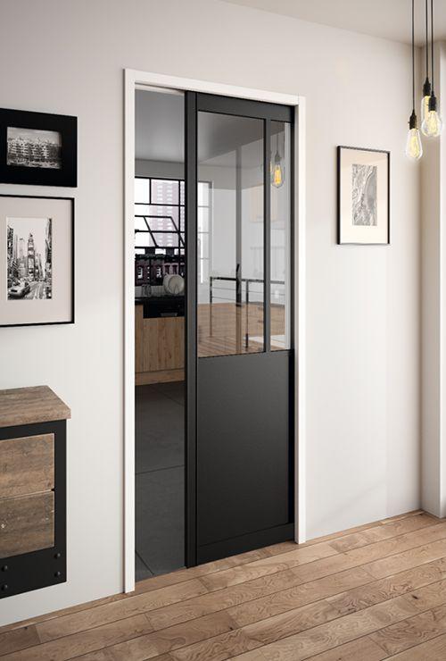 Дверь лофт раздвижная в стену 12