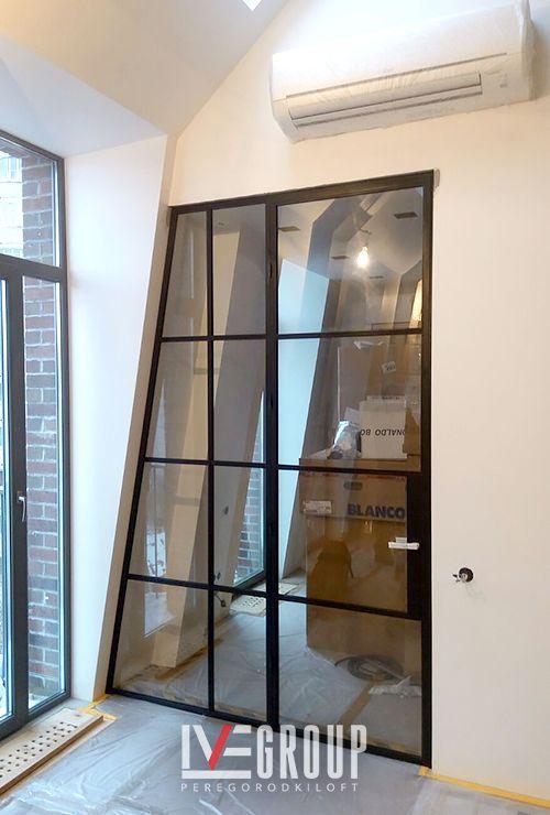 Асимметричные межкомнатные двери лофт 25