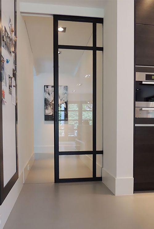 Фото раздвижной двери в стену 23