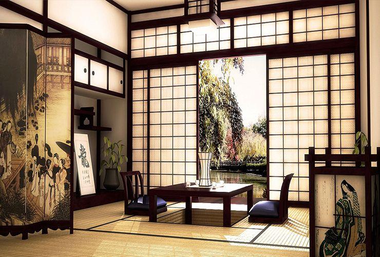 Японские перегородки седзи фото
