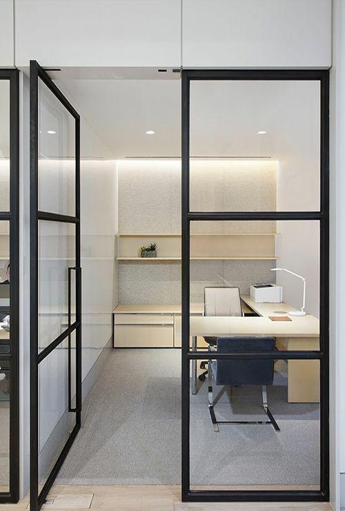 Маятниковые двери в офис фото 9
