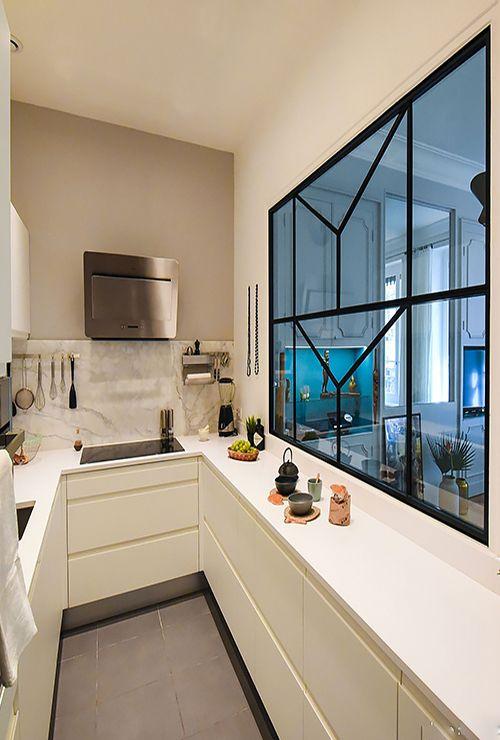 Фото межкомнатного окна на кухню 3