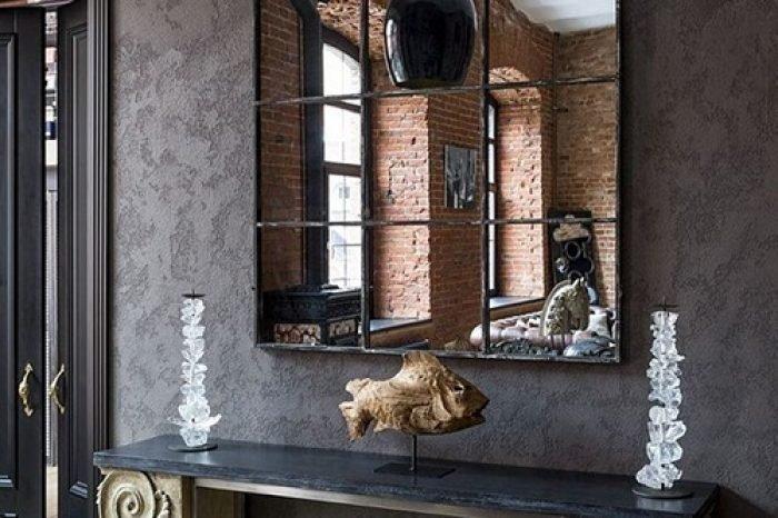 зеркало в металлической оправе для дома фото 47