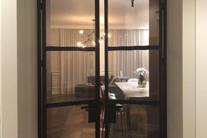 Дверь в гостиную с фрамугой фото