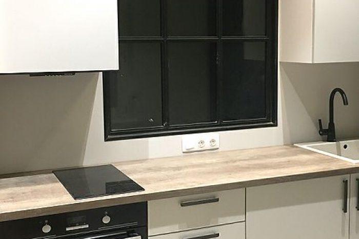 Французское окно на кухне на заказ фото
