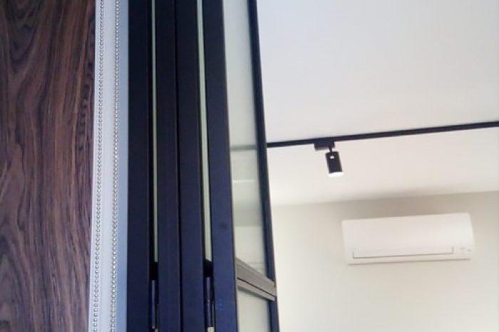 Двери Гармошка в сложенном виде