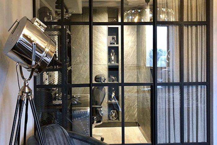 Металлическая перегородка лофт в кабинет